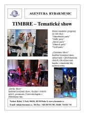 Timbre music - TEMATICKÉ SHOW